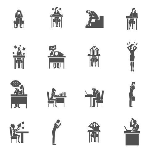 Conjunto de ícones de frustração vetor