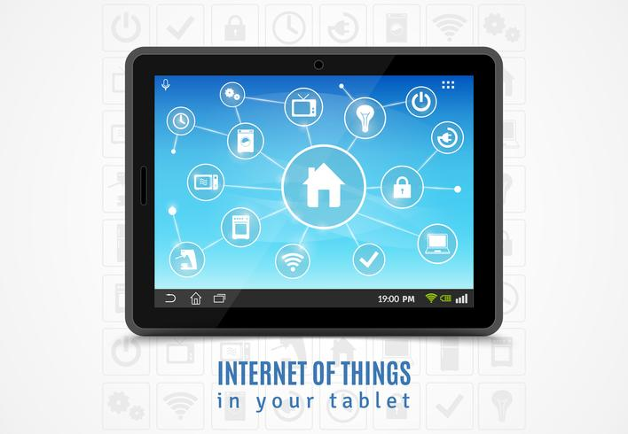 Internet das coisas Tablet vetor