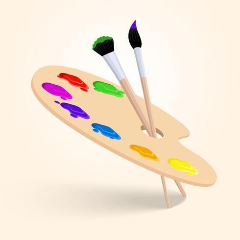 Paleta de cores da arte vetor