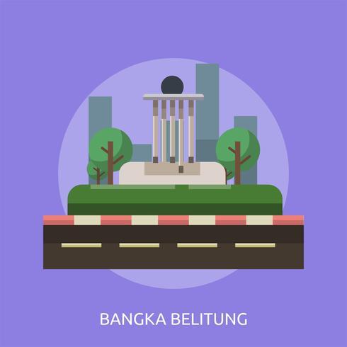 Ilustração conceitual da cidade de Bandung Design vetor