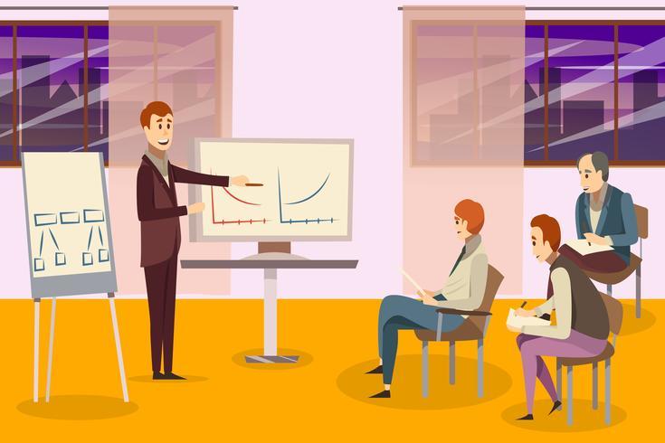 Composição de treinamento de negócios vetor