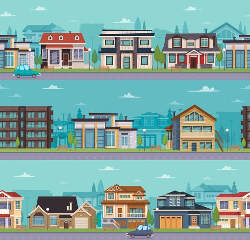 Modelo de paisagem urbana sem emenda vetor