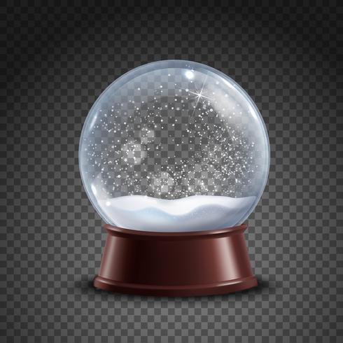 Composição de globo de neve vetor