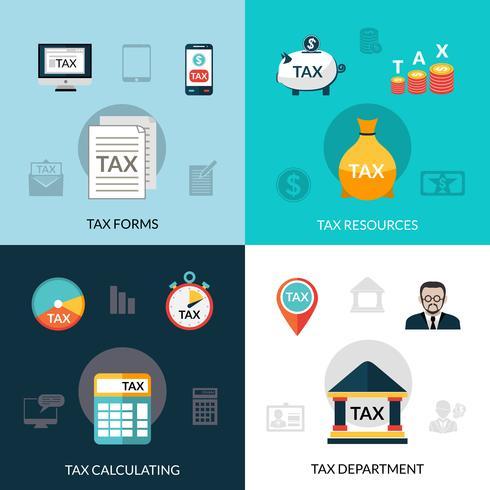 Conjunto de ícones de impostos vetor