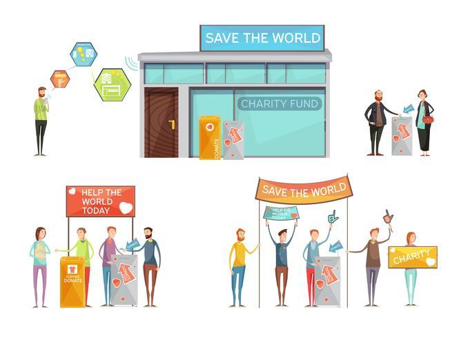 Conceito de Design de caridade vetor