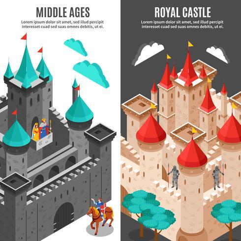 Conjunto de Banner Vertical do Castelo Real vetor