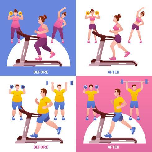 Conceito de design de fitness vetor