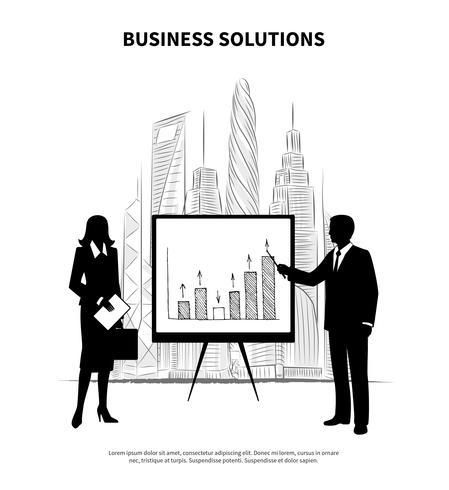 Ilustração de pessoas de negócios vetor