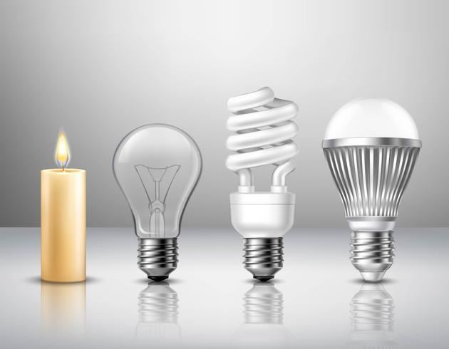Conceito de Evolução de Luz vetor