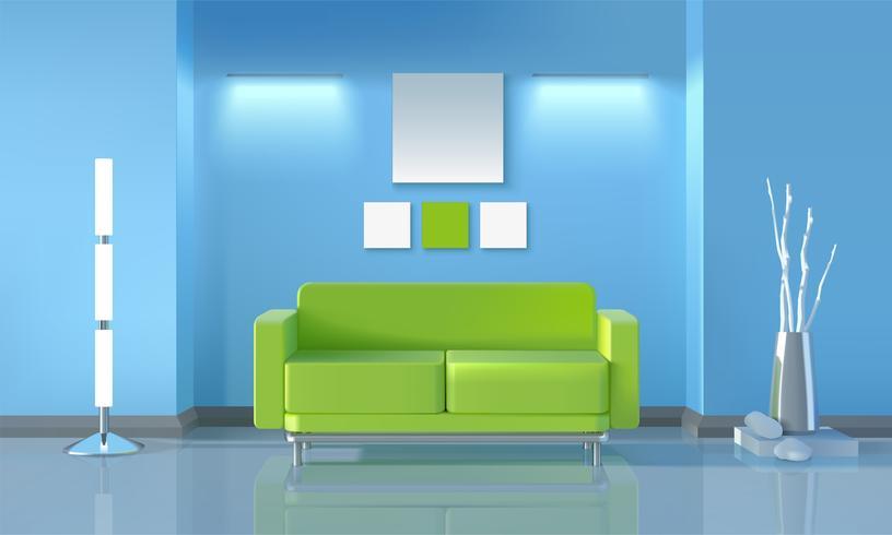 Design moderno de sala de estar vetor