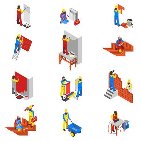 Conjunto de ícones do construtor vetor