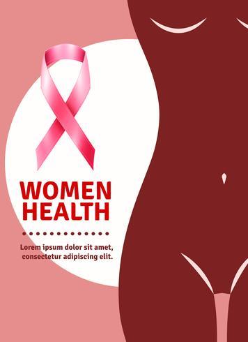 Cartaz de conscientização de câncer de mama vetor