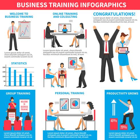 Infografia de treinamento de negócios vetor