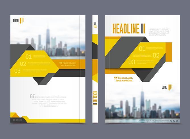 Design de brochura de relatório anual vetor