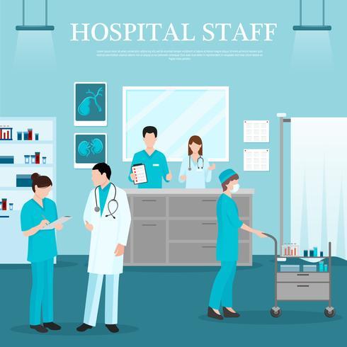 Modelo de equipe médica vetor
