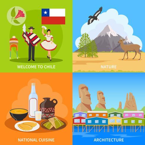 Conceito de Design Chile 2x2 vetor