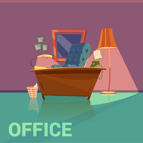 Design retrô de escritório vetor