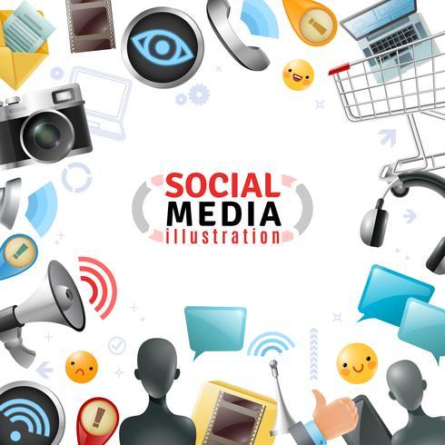 Modelo de Mídia Social vetor