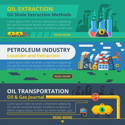 Conjunto de bandeira de indústria de petróleo vetor