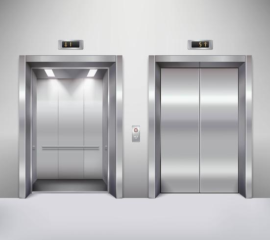 Ilustração de porta de elevador vetor