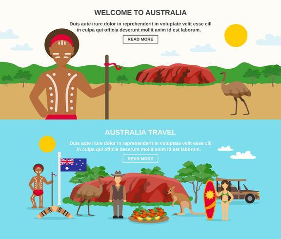 Bem-vindo aos Banners da Austrália vetor