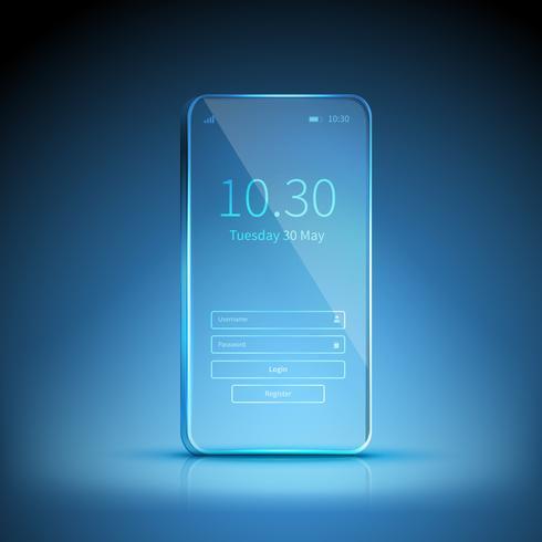 Imagem de smartphone transparente vetor