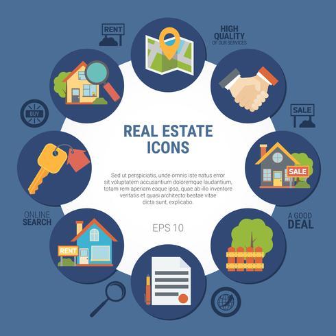 Ilustração do conceito imobiliário vetor