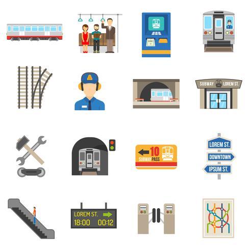 Conjunto de ícones subterrâneos vetor