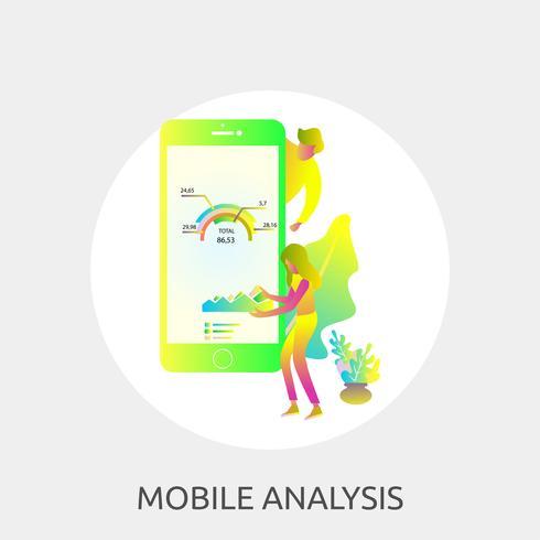 Ilustração conceitual de análise móvel Design vetor