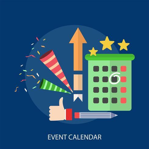 Ilustração conceitual de calendário de eventos Design vetor