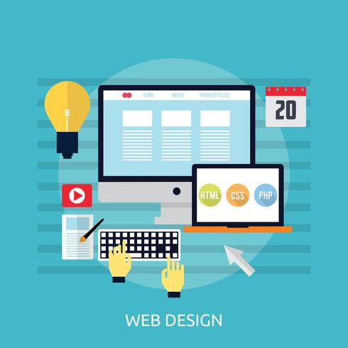 Ilustração conceitual de Web Design vetor