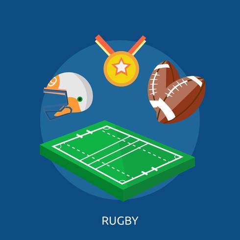 Ilustração conceitual de Rugby Design vetor