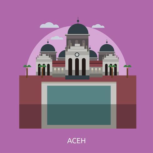 Ilustração conceitual de Aceh Design vetor