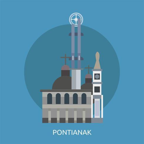Ilustração conceitual de Pontianak Design vetor