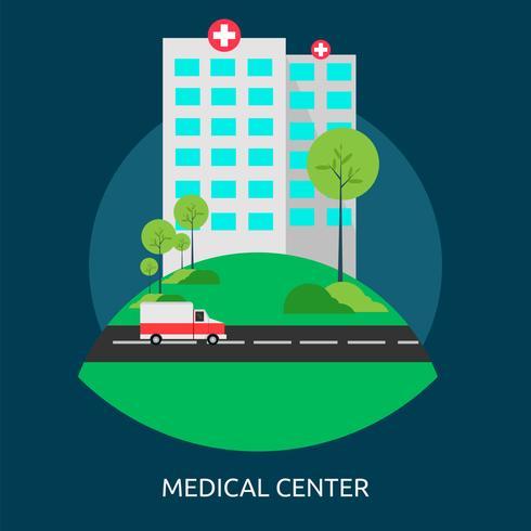 Ilustração conceitual do centro médico Design vetor