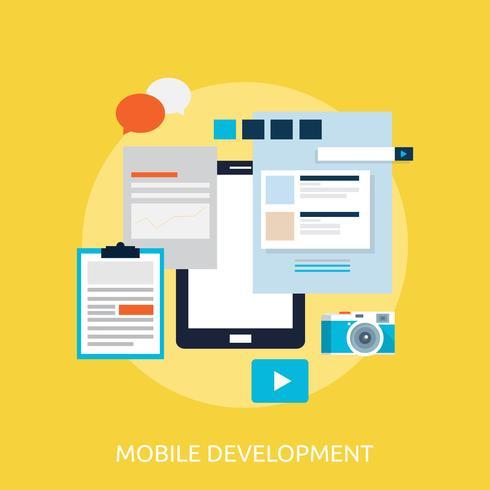 Ilustração conceitual de desenvolvimento móvel Design vetor