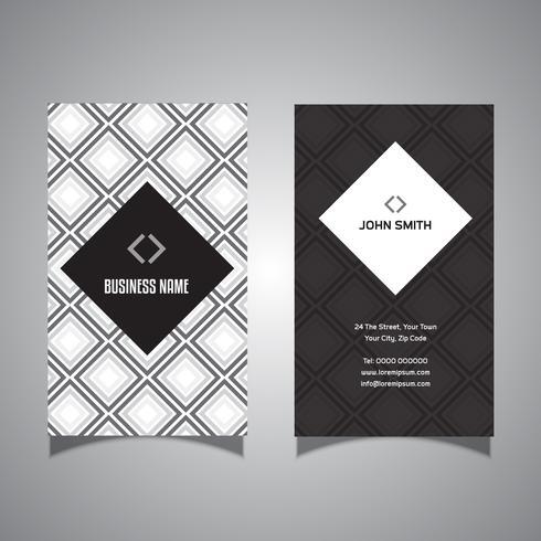 Cartão de visita com design de padrão de diamante vetor