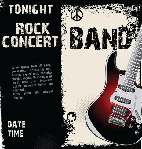 Fundo de grunge de concerto de rock vetor