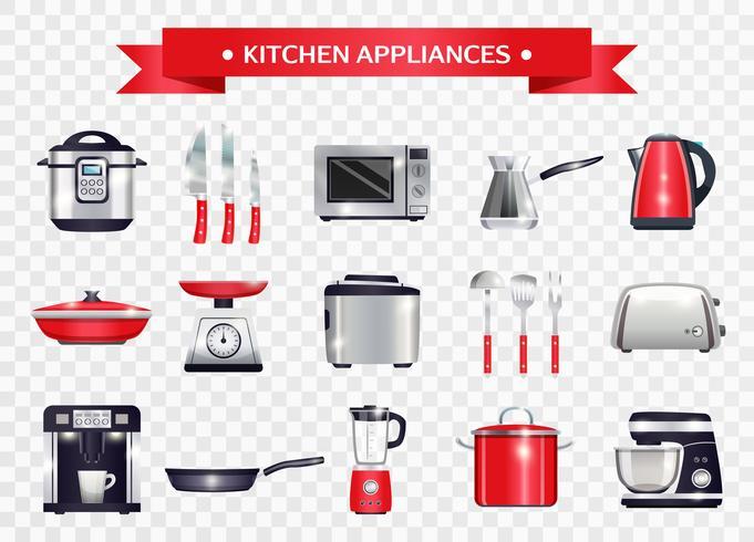 Conjunto de aparelhos de cozinha vetor