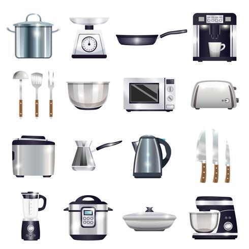 Conjunto de acessórios de cozinha vetor