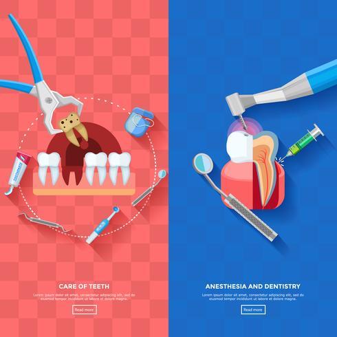 Dentista Banner Vertical vetor