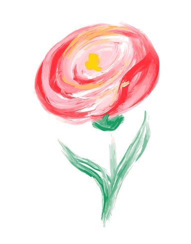 Flor bonito do vetor da aquarela da mola. Objeto isolado de arte para buquê de casamento