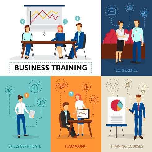 Banner de composição de conceito de formação de negócios vetor