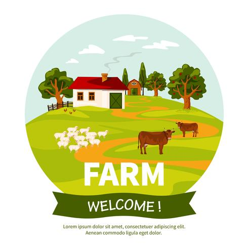 Ilustração de fazenda vetor