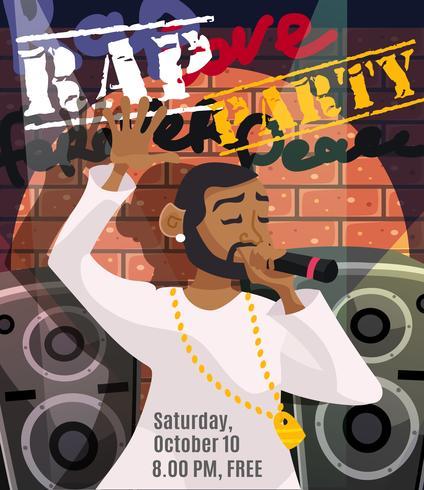 Cartaz de concerto de rap vetor