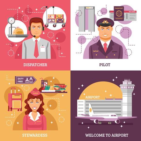 Conceito de Design do Aeroporto vetor