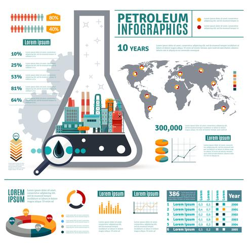 Infografia da indústria do petróleo vetor