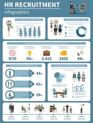 Recrutamento RH Pessoas Infografia vetor