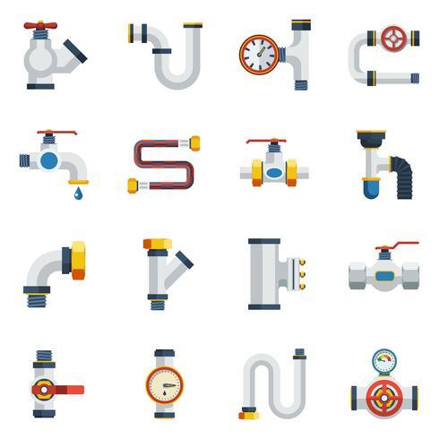 Conjunto de ícones de tubos vetor