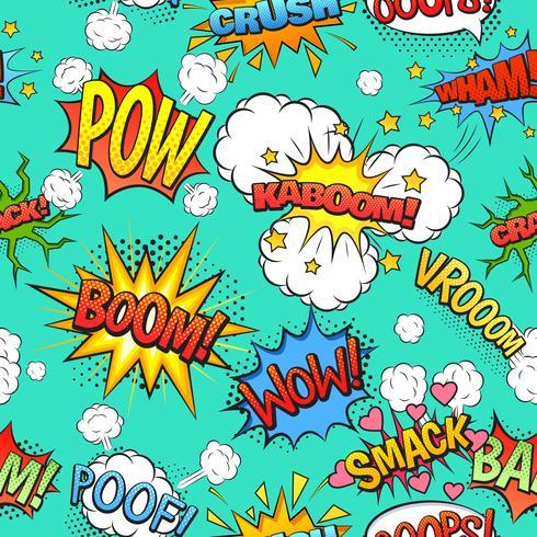 Bolhas do discurso em quadrinhos sem costura de fundo vetor